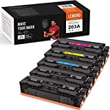 LEMERO SUPERX 203A Kompatibel für HP 203A CF540A CF541A CF542A CF543A Tonerkartuschen für HP Color Laserjet Pro M454dn M454dw MFP M479dw M479fdn M479fdw Drucker (5er-Pack)