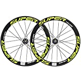 Superteam 50/23mm Carbon Wheelset Fixed Gear Bike Wheel 700c Clincher Single Speed