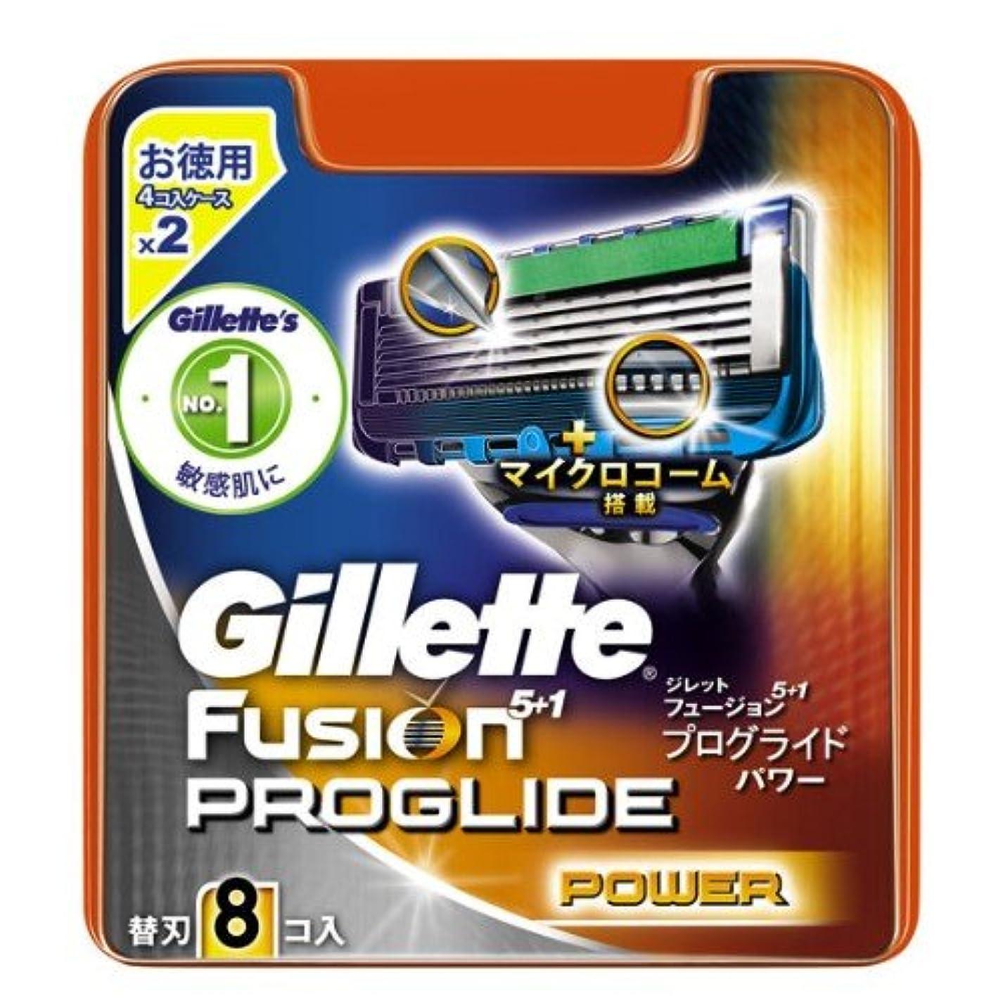 変成器チャップリズミカルなジレット プログライドパワー 専用替刃 8B