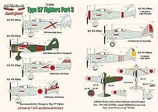 Lifelike 1/72 Scale Decal Nakajima Ki-27 Nate Pt 3 Hasegawa Type 97 Fighter 72-036