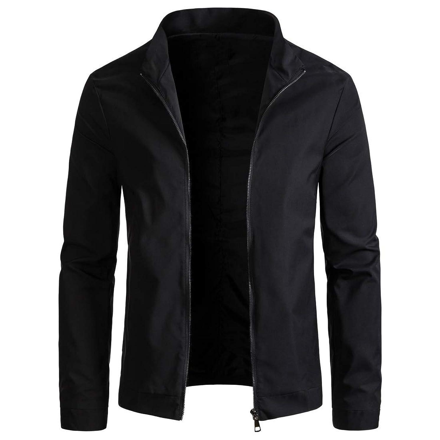 WULFUL Mens Slim Fit Lightweight Windbreaker Casual Jacket Waterproof Outdoor Sportswear