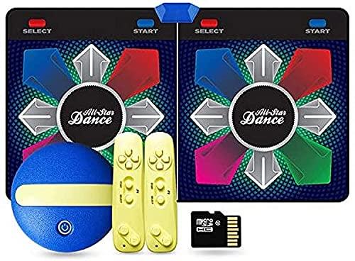 NKTJFUR Mats de baile, HDMI Port Dance Mat HD Resolución, 164 * 93cm Manta de baile de doble juego, Dos manijas de control inalámbrico, 2.4G Conexión inalámbrica Computadora TV para niños jugando dive