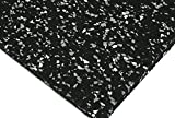 American Floor Mats 3/8in (9mm) Thick 20% White/Grey 4' x 6' Hi-Color Rubber Rolls (20%), Protective...