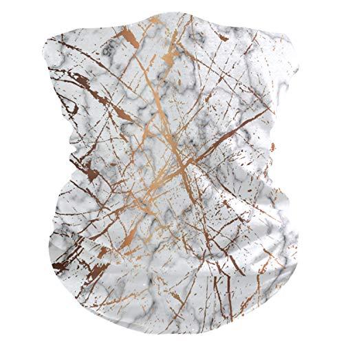 Funnyy Marble Dorado Líneas de salpicadura para el cuello, polaina, pañuelo bandana, pasamontañas, cubierta para el polvo, sin costuras, mágico, pañuelo para la cabeza, multifuncional, diadema para deportes al aire libre