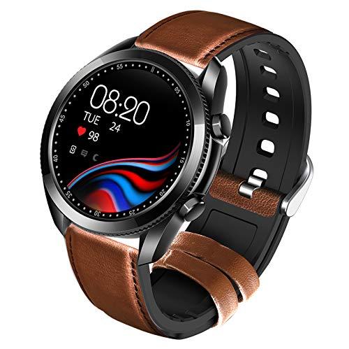 BNMY Reloj Inteligente para Android/iOS, Rastreador De Salud Bluetooth con Monitor De Frecuencia Cardíaca, Reloj Inteligente Digital para Mujeres Y Hombres, IP67 A Prueba De Agua,Negro