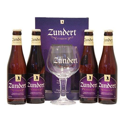 4 Flaschen Zundert Trappistes 8% 33 cl + Glas Holländische Bier bierpaket beer