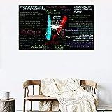YuanMinglu Jinete Collage Cartel Lienzo impresión Sala de Estar decoración del...