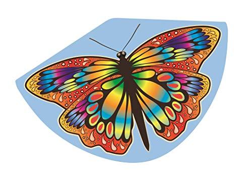 Paul Günther 1104 - Kinderdrachen mit Schmetterling Motiv, Einleinerdrachen aus robuster PE-Folie mit verstellbarer Drachenwaage, für Kinder ab 4 Jahre mit Wickelgriff und Schnur, ca. 92 x 62 cm groß