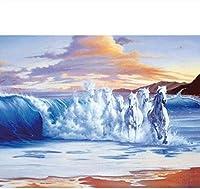 5Dダイヤモンドペインティング馬ダイヤモンドペインティングフルセットの絵画モザイクアートクラフト 12x16インチ