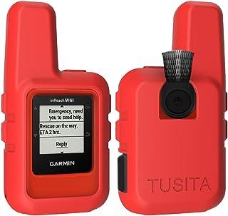 TUSITA Case for Garmin inReach Mini - Silicone Protective Cover - Handheld Satellite Communicator Accessories (Red)