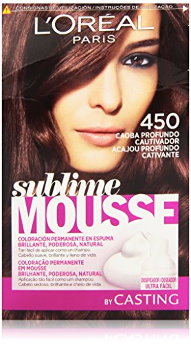 L'Oreal Paris Sublime Mousse Coloración Permanente 450 Caoba Profundo...
