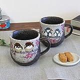 九谷焼 ペアマグカップ すずめ・四十雀 陶器 食器 日本製 ブランド