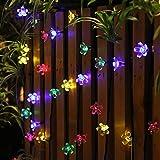 guirnalda luces exterior solar EC Technology luces decorativas exterior 22 pies lucessolaresexterior 50 led de luz impermeable para decorar jardín, naviad de árbol, fiesta