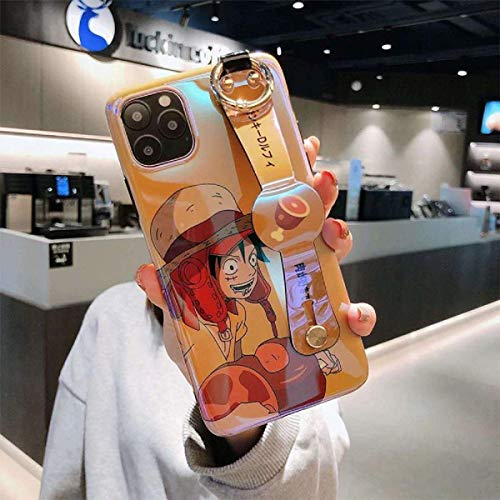 Funda de teléfono para iPhone 11 12 Mini Pro Max X XS Max XR 6 6S 7 8 Plus SE 2020 suave TPU correa de muñeca de soporte, 6 para iPhone 11 Pro