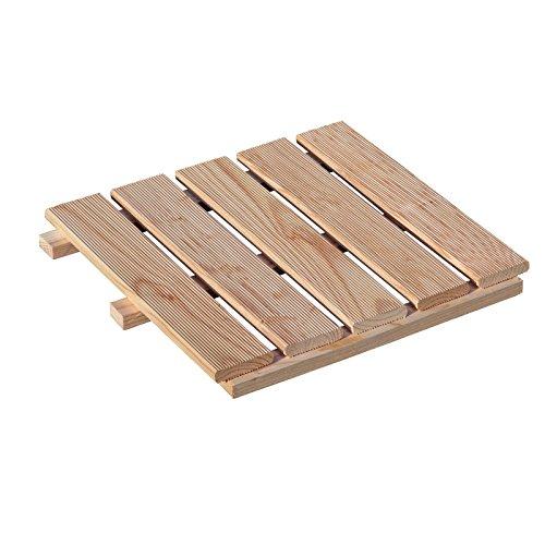 Holzfliese 50x50 cm Terrassenfliese aus Lärchenholz von Gartenpirat®