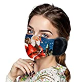 oceansEdge11 [US in Stock] 2021 Christmas Style Women Girls Winter Warm Mouth Face_Cover Earmuff Windproof Dustproof Face_Mask with Ears Warmer Ear Face Protection for Adults Sport Oudoor Cycling