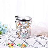 POYANG Taza de Vidrio a Escala Directa de fábrica con 350-400 ml Taza de Desayuno de Leche Taza de Agua de Vidrio Linda Oficina Creativa-Pintada_