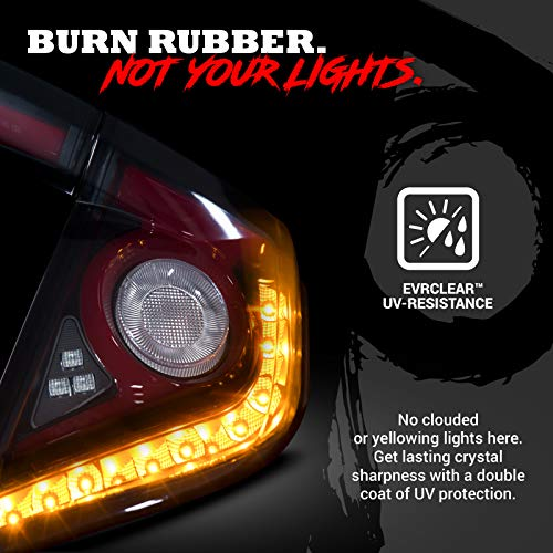 OPT7 Sequential LED Tail Light Lamps Pair Smoked 16-21 for Honda Civic Hatchback with OLED