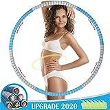 TBoonor Hula Hoop Reifen für Erwachsene, Abnehmbarer Hoola Hoop Reifen von 1,2 bis 3,2kg für schmerzempfindliche und Profis, hullahub Reifen für Abnehmen, Fitness, Massage(blau)