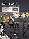 Clairefontaine 96050C Zeichenblock Pastelmat (kopfseitig geleimt, 12 Blatt, 30 x 40 cm, 360 g, mit 4...