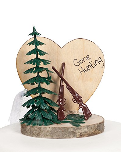 Gone Hunting Wedding Cake Topper