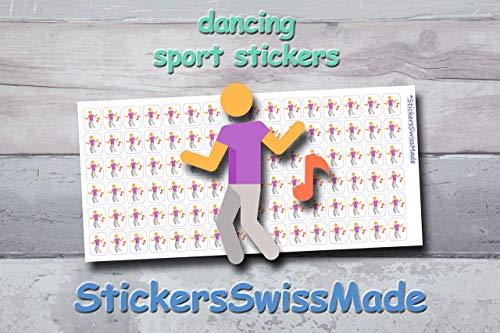 AUFKLEBER FÜR KALENDER || Tänzer || Sport || kleine farbige Icons | für Kalender oder Bullet Journals