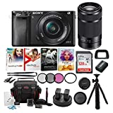 Sony Alpha a6000 Mirrorless Camera with 16-50mm and 55-210mm Lenses Bundle...