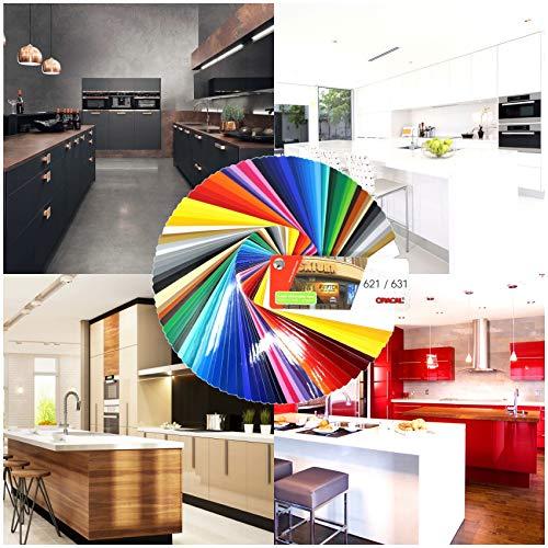 Finest Folia (7,89€/m²) plotterfolie 631 MATT ook als meubelfolie mat kleeffolie keukenfolie (042 sering mat, 5m)