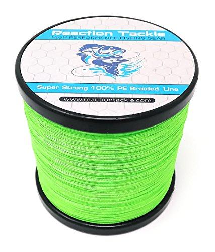 Reaction Tackle Hi Vis Green 50LB 1000yd