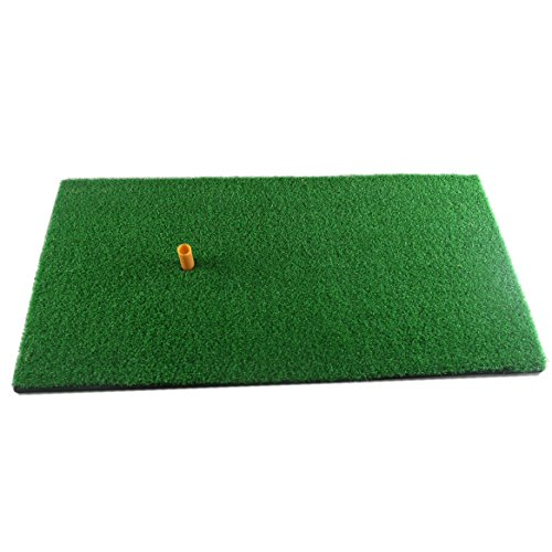 "Truedays Golf Mat 12""x24"" Residential Practice Hitting Mat Rubber Tee Holder"