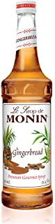 Monin - Gingerbread Syrup, Hint of Nutmeg and Cinnamon, Natural Flavors, Great for Lattes, Mochas, Sodas, and Cocktails, N...