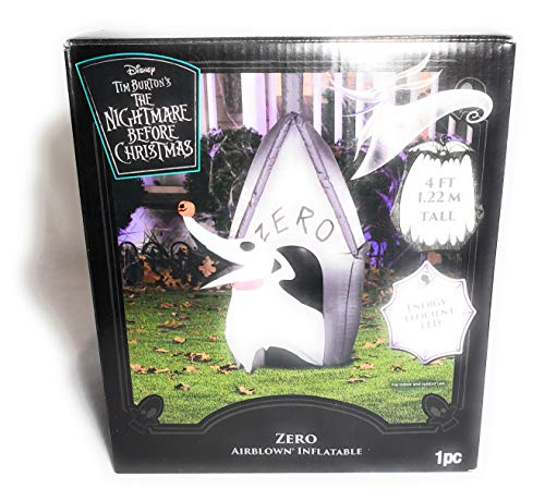 Gemmy Corp Zero with Doghouse 4 FT Nightmare Before Christmas Airblown Inflatable