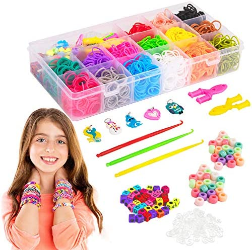 Liberry Colored Rubber Bands Bracelet Making Kit with Loom Bands Storage Container Great Gifts product image