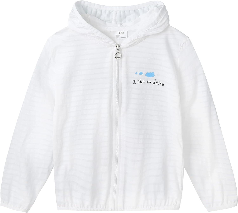 Huimingda Kids Girl Long Sleeve Printed Hooded Jacket Rashguard Workout Sport Thin Coat Outerwear