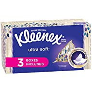 Kleenex Ultra Soft Facial Tissues, Flat Box, 120 Tissues per Flat Box, 3 Packs