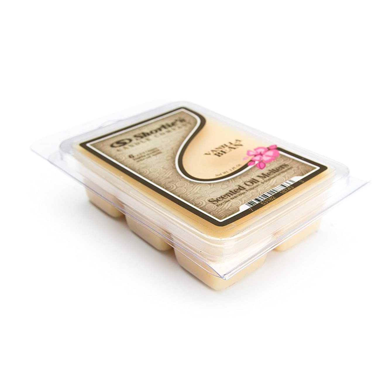 Shortie's Candle Company Vanilla Bean Wax Melts - 1 Highly Scented 3 Oz. Bar - Made with Natural Oils - Bakery & Food Air Freshener Cubes Collection