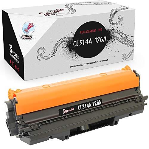 Squuido Tambor CE314A 126A Compatible para HP Color Laserjet Pro M175 M175nw M175a M176n M177fw CP1025 CP1025nw TopShot M275 M275nw MFP | Alto Rendimiento 14000/7000 páginas