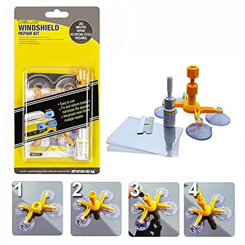 Car Windshield Repair Kit, Window Glass Crack Repair Tool Fluid Liquid for Fix Windshield Chips,...