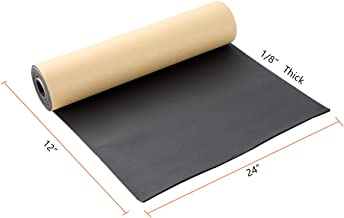"""NATGAI Sponge Neoprene with Adhesive Foam Rubber Sheet 1/8"""" Thick X 12"""" Wide X 24"""" Long, Cut to Multiple Dimensions and Lengths - DIY, Gaskets, Cosplay, Costume, Crafts"""