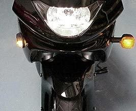 Black/Clear Flush-Mount Turn Signals for Honda CBR600RR CBR1000RR CBR 600RR 1000RR F3 F4i RR Kawasaki Ninja 250 300 500 ZX6R ZX10R Suzuki GSXR600 GSXR750 GSXR1000 GSXR 600 750 1000 Yamaha YZF R6 R1