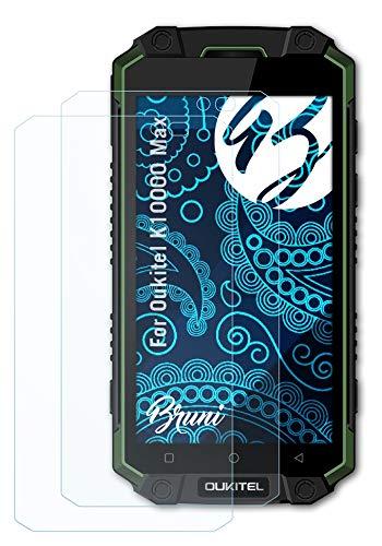 Bruni Schutzfolie kompatibel mit Oukitel K10000 Max Folie, glasklare Bildschirmschutzfolie (2X)