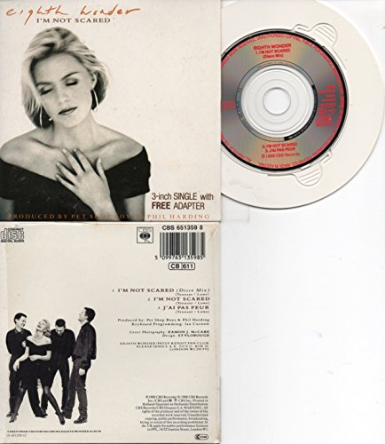 CD SINGLE Eighth Wonder - Pet Shop Boys I'm not scared 3-track CARD SLEEVE - 1) I'm not scared (Disco mix) 2) I'm not scared (Single) 3) J'ai pas peur - CDSINGLE