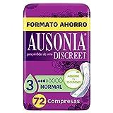 Ausonia Discreet - Compresas Normal para Pérdidas de Orina, 72 unidades