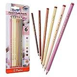 Pasler Skin Tone Pastel Chalk Pencils, Soft Core, Professional Colored Pastel Pencils for Artist Drawing, Sketching - 6 Piece Portrait Set