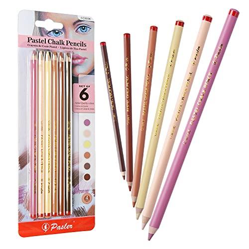 Pasler Hautfarbene Pastellkreidestifte, weicher Kern, professionelle Buntstifte für Künstler, Zeichnen, Skizzieren, 6-teiliges Porträt-Set