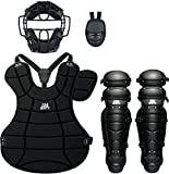 ZETT(ゼット) 軟式 キャッチャー防具(キャッチャー用プロテクター) 4点セット BL302SET ブラック(1900) 野球