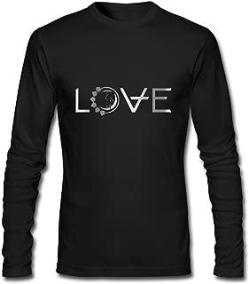 JACKMOUSERICE Men's Angels & Airwaves Logo 1 Platinum Style Long Sleeve T Shirt-Black