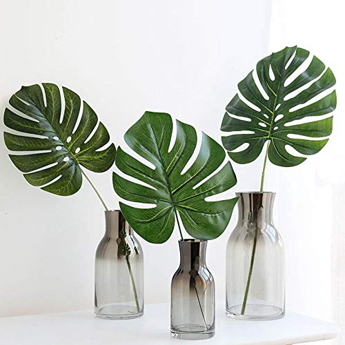 XdiseD9Xsmao 1 Unid Color Fake Green Kunstmatige Tropische Plant Monsterera Leaf Wedding Party Home tafeldecoratie Fotografy Prop