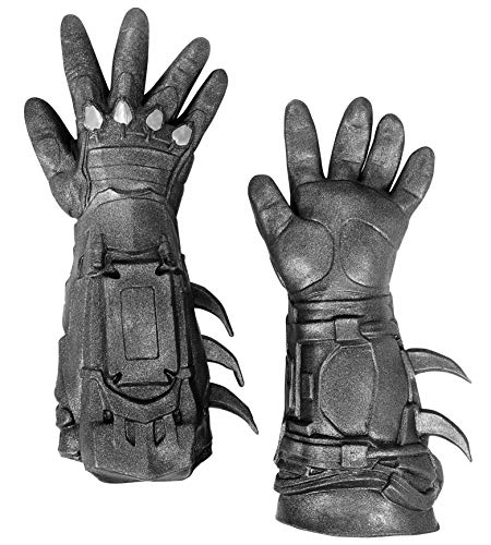 Rubie's mens Arkham City Deluxe Batman Gloves Costume Accessory, Black, One Size US
