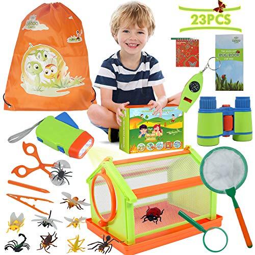 Lehoo Castle Kit de Juguetes de Exploración Aventura al Aire Libre 23 Pcs Bug Catcher Kit para niños Stem Educativo Bug Catcher Kit Juguetes Regalo para niños Camping Senderismo Aventura
